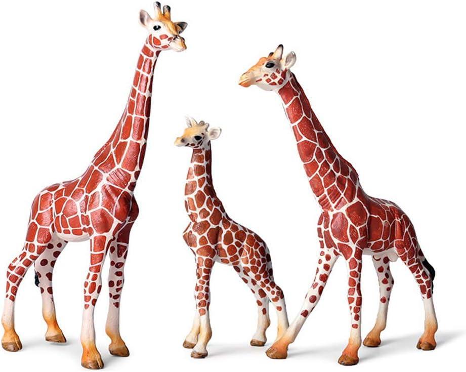 Realistic Giraffe Figurines with Cub Animal Safari Fixed price for sale New item Plastic Gira