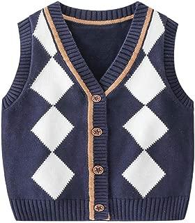 Mud Kingdom Little Boys School Uniform Round Neck Sweater Vests Star