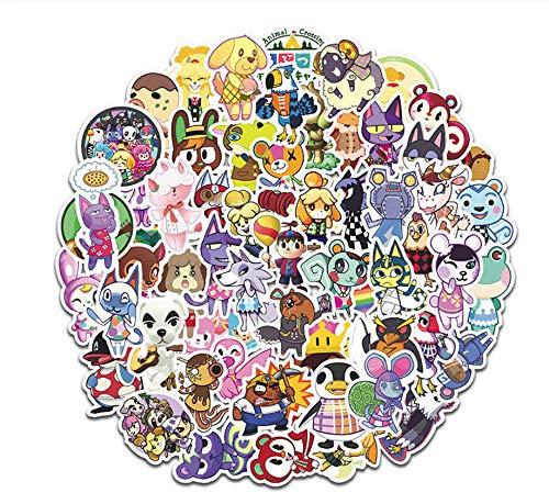 2 Pack Game Cartoon Animal Crossing Stickers Diy Motorfiets Reisbagage Gitaar Cool Graffiti Sticker For Kid Toy