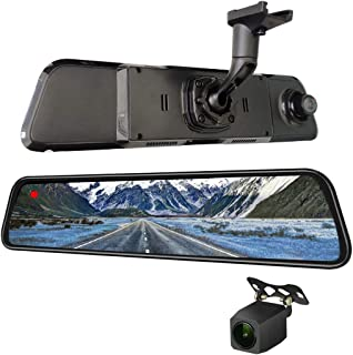 NikoMaku Mirror Dash Cam Front and Rear Backup Camera 12 Inch Screen for Cars GPS 2K Resolution Full Touch Screen Rear Vie...