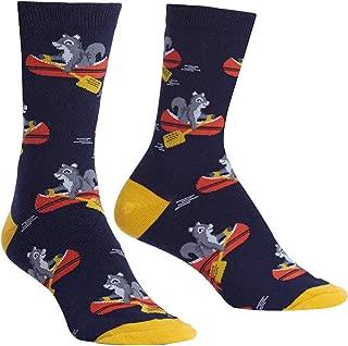 Sock It To Me, Keep on Paddling, Women's Crew Socks, Canoe Squirrel Socks