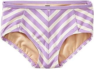 Tea Collection Striped Tankini Swimwear Bottom, Girls 4, Aster