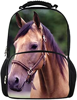 Youngerbaby Horse 3D Animal Face Pattern Design Backpack For Men Travel Bag