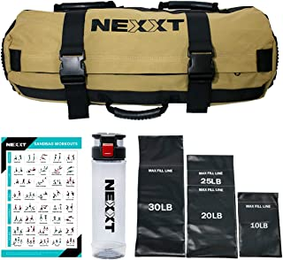 Nexxt Sandbag Weighted Workout Equipment, Designed for Fitness; Perfect for a Home Gym, Adjustable Heavy-Duty Weight 10Lb ...