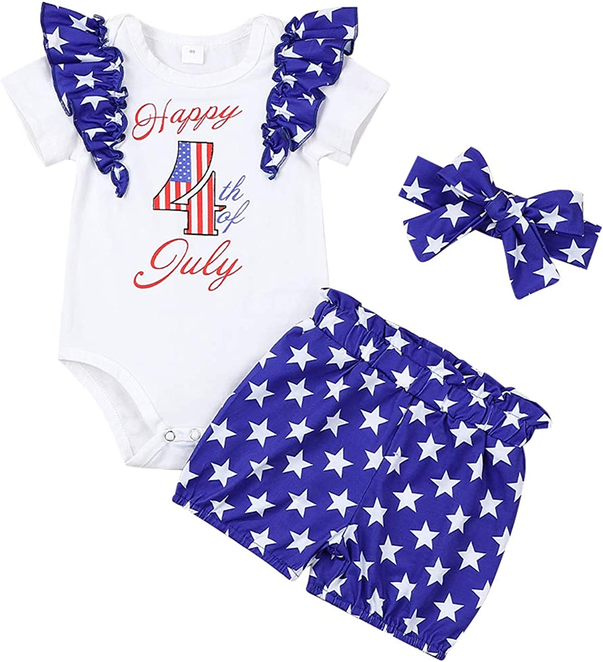 My First 4th Sales for sale of July Newborn Girls Baby Romp Clothes Boys New products, world's highest quality popular! Summer