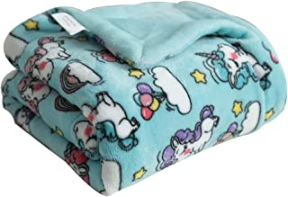 Coosey Flannel Fleece Baby Blanket Unicorn Printed Thick Soft Lightweight Cozy Warm Plush Minky Baby Blanket for Toddler N...