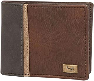 Baggit Mens Leather 1 Fold Wallet (Brown_Small)