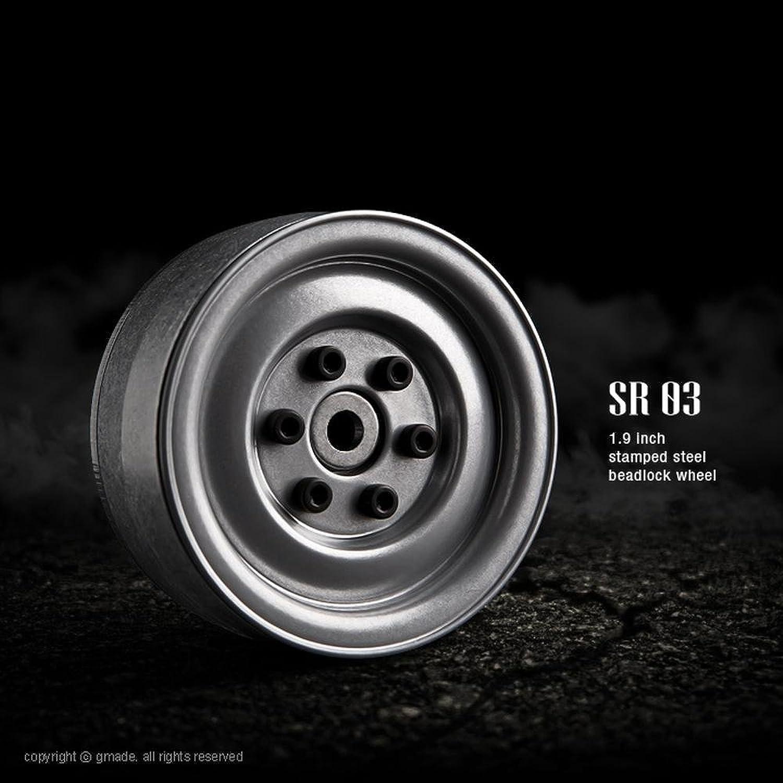 G-made 70182 1.9 SR03 Beadlock Wheels, Semigloss Silver