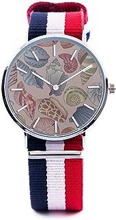 Unisex Fashion Watch Sand Dollar Water Creature Plant Sea Underwater World Print Dial Quartz Stainless Steel Wrist Watch with Nylon NATO Strap Watchband for Women 36mm Casual Watch