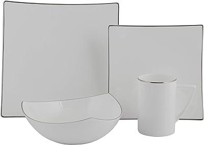 Amazon.com   Malacasa 30 Pieces Dinnerware Set Square Dishes ...