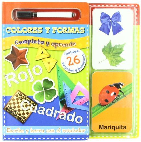 Completa y aprende. Colores y formas: Escribe y borra con el rotulador (Primeros Aprendizajes)