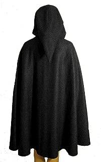 Newdeve Unisex Short Hooded Cloak Halloween Costume, Medieval Cosplay Cape