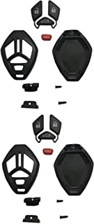 Keyless Entry Remote Key Fob Shell Case Fit for Mitsubishi Eclipse Lancer Endeavor Galant Outlander Key Fob Cover Casing Button Pad Outer Cover Repair (Black-2 Pack)