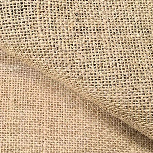 eCostura® Tela de Arpillera por Metros, Saco, Yute, Manualidades, Costura - Ancho 147 cm, Largo a elección de 100 en 100 cm, Color Natural