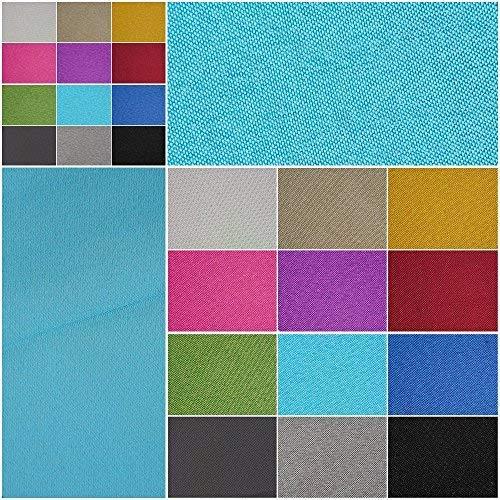 Verdunklungsstoff, blickdicht – Meterware ab 50cm in 9 Unifarben. 100% Polyester - schwere Qualität - Thermo-Rückseite - Textiloberfläche- waschbar | Blackout – für Vorhänge und Raumtrenner (türkis)