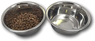 Top Dog Chews Stainless Steel Dog Bowl Set, 8