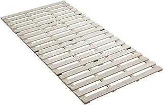 アイリスプラザ すのこマット 桐 四つ折り シングル 天然木 折りたたみ ベッド通気性