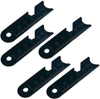 Three oaks 5pcs Striker Scraper Set for Ferro Rod use Made of Carbon Steel
