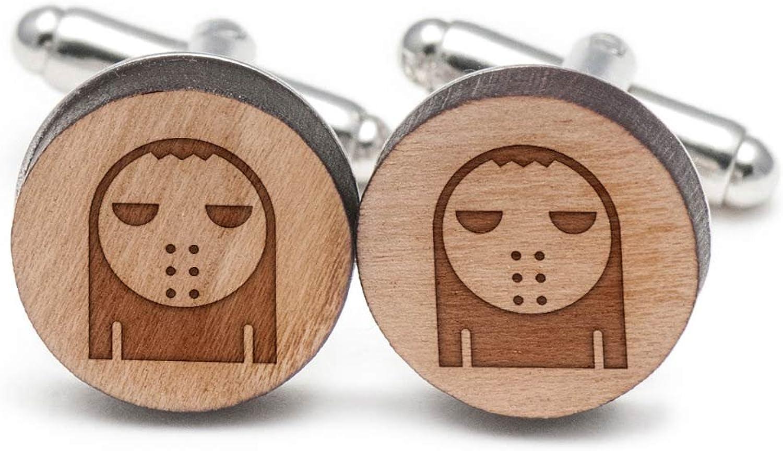 Scary Mask Cufflinks, Cufflinks, Cufflinks, Wood Cufflinks Hand Made in the USA 7ef688