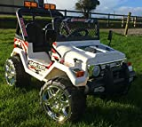 www.funstuff.ie KIDS 12V RAPTOR ELECTRIC RIDE ON CAR 4X4 JEEP | 2-SEATER | REMOTE CONTROL | WHITE