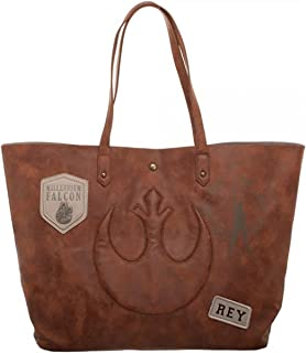 Star Wars Episode 8 Rebel with Patch & Metal Logos Jrs. Tote Bag