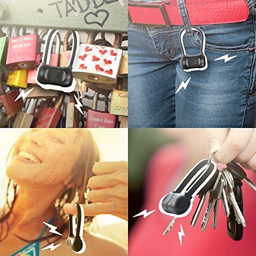 equinux tizi Schlingel (Micro USB, schwarz)- Micro USB-Kabel zum Mitnehmen mit smartem tizi flip USB Stecker (reversibel) und praktischem Clip