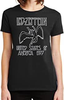 Womens Led Zeppelin 1977 World Tour Graphic Tee