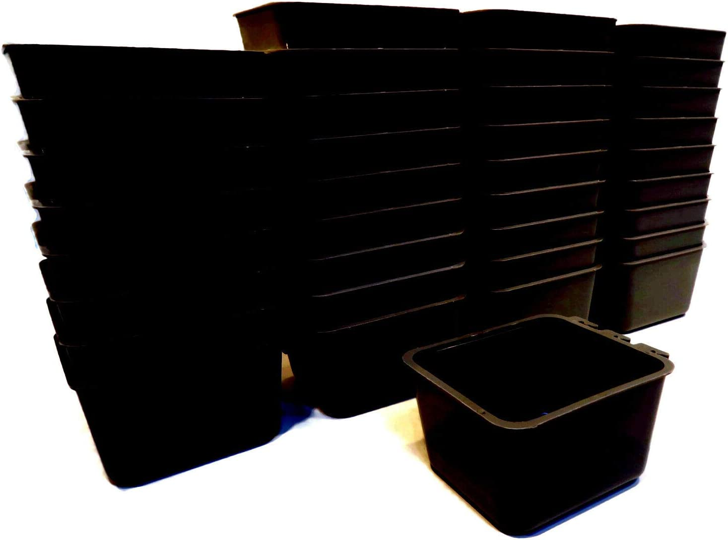 The ROP Shop Pack Outstanding of 36 Black P Cups for Cage Dogs Very popular Chickens