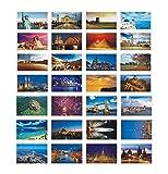 Paisaje hermoso del viaje del mundo 30 PCS postales retras artísticas - D2