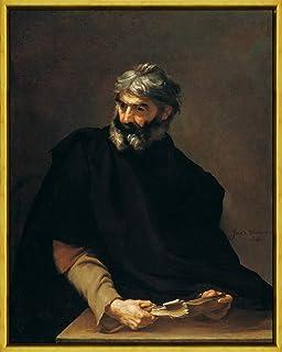 フレーム Jusepe De Ribera 艺术家 ジクレープリント キャンバス 印刷 複製画 絵画 ポスター(アブデラのプロタゴラス) #XLK