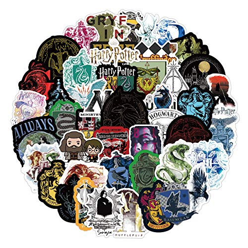 LZWNB Nuevo Harry Potter Pegatina Varita mágica Ron Anime Personaje Tema Maleta Pegatina Impermeable 70 Hojas