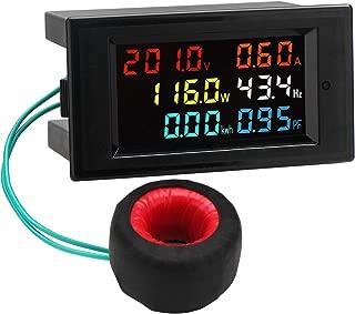AC Display Meter, Droking 80-300V 100A Voltaje Corriente Factor de potencia Frecuencia Monitor de energía eléctrica Amperímetro Voltímetro Multímetro Probador 110V 220V Detector digital Panel lector