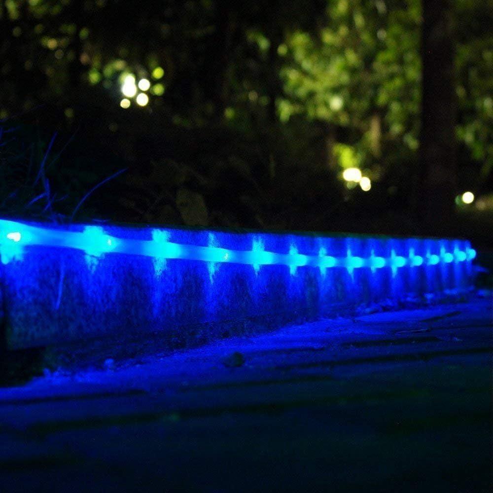 Solar Rope Lights Outdoor, 30M 300 LED Garden Solar String Lights Wasserdichtes Kupferdrahtrohr Garden Lights, Outdoor Rope Lights Für Gartenpartys im Freien Blue