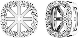 Dazzlingrock Collection 0.30 Carat (ctw) 10K Gold Round Diamond Removable Jackets For Stud Earrings 1/3 CT