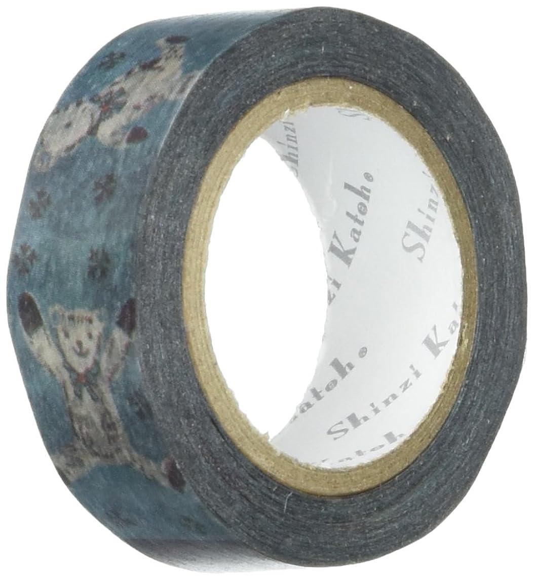 SEAL-DO Shinzi Katoh Washi Masking Tape, 15mm x 10m, Teddy Bear (ks-mt-10016)