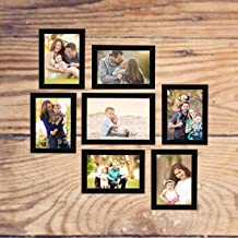 AG Crafts™ Collage Photo Frames, Set of 7,Wall Hanging (6 pcs - 4x6 inch, 1 pcs - 5x7 inch) (Black)