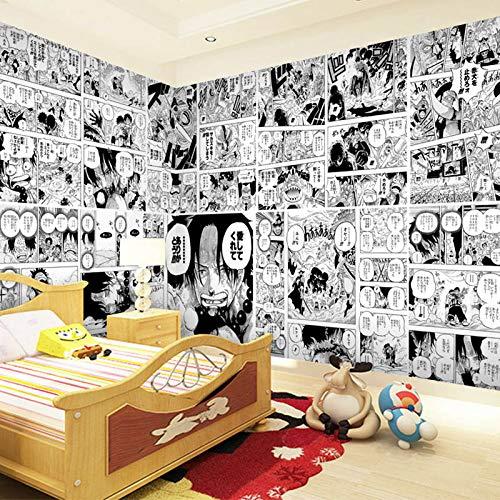 Blovsmile One Piece Portgas.D.Ace/Monkey.D.Luffy Vlies Wandbild Foto 3D Wallpaper Schlafzimmer Dekoration Poster-400 * 280