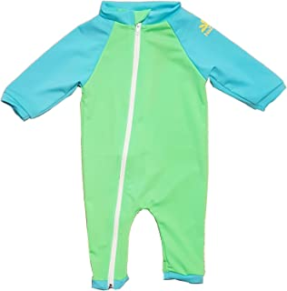 Tahiti Full Zip Sun Protective Baby Swimsuit - in Your Choice of Colors - UPF 50+