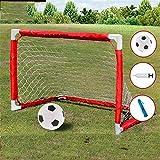 Dygzh Football Goal Indoor Outdoor Garden Toys Kids Pop Up Portable Football Soccer Goals Nets for Garden Beach (Color : Red, Size : M)