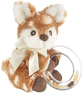 Bearington Baby Lil' Willow Plush Fawn Shaker Toy Ring Rattle, 5 inches