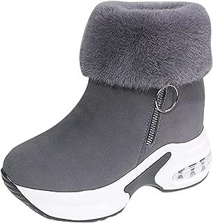 Bottines de Neige, Bottines décontractées pour femmes à la mode Bottes thermiques à semelles compensées respirantes