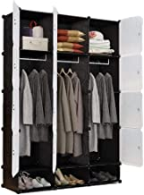 Portable Wardrobe Simple Wardrobe Closet Portable Dresser Plastic Storage Organizer Armoire Bedroom Cube Bedroom Clothing ...