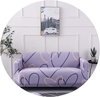 sensitives Chinese Elements Ink Stretch Elastic Printed Sofa Cover Universal Cases Sofa Slipcovers for Home Decor 1/2/3/4 Seaters,Color 2,6060cm