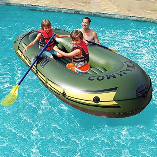 Schlauchboot-Set für 2 Personen Aufblasbares Fischjäger- und aufblasbares Floßboot für treibenden Wassersportspaß