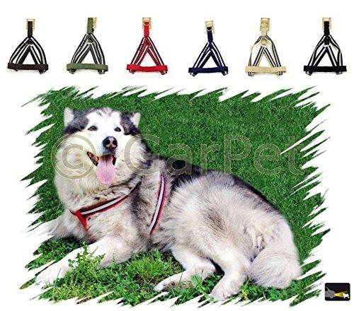 Hunde Baumwolle Geschirr verstellbares Hundegeschirr Brustgeschirr reflektierend (braun, Gr.2)