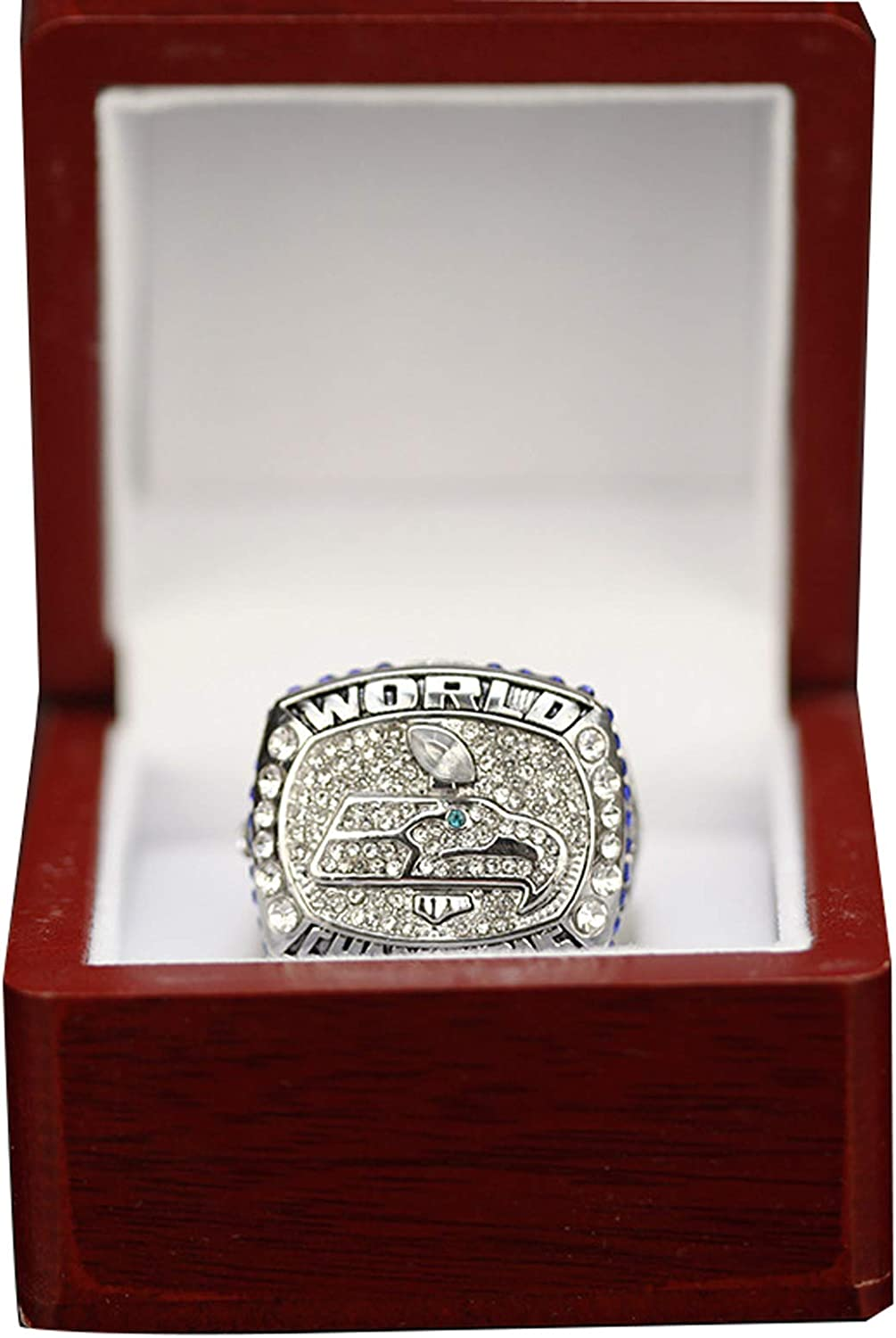 WOCTP 2013 Seahawks Rugby Championship Ring American Football Super Bowl Replica Creative Ring 11#
