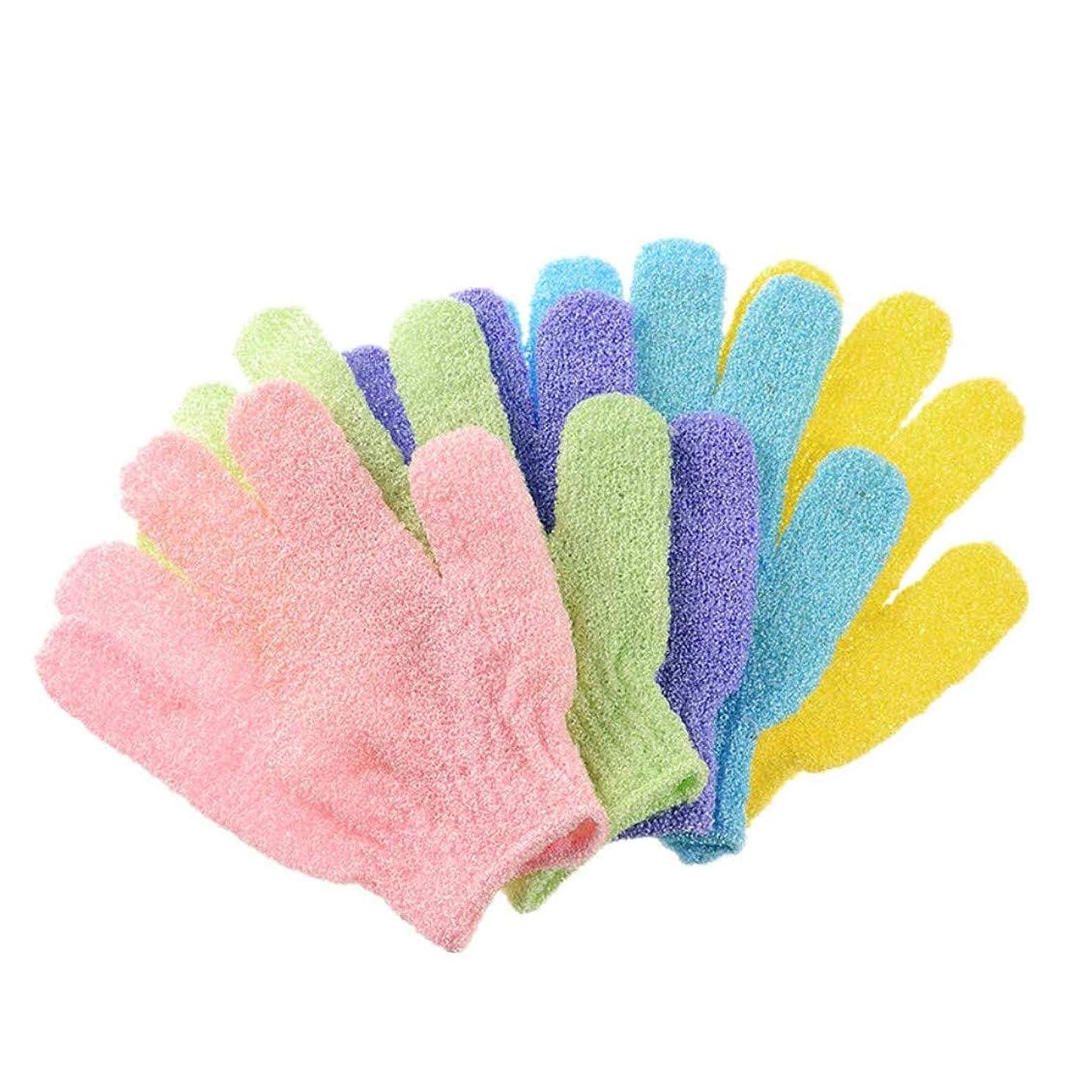 何かバングラデシュ受粉する10枚セット浴用手袋 お風呂手袋 角質取り ボディウォッシュ手袋 角質除去グローブ 泡立ち 垢すり