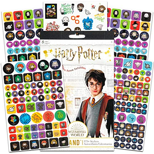 Harry Potter Stickers Party Favors Bundle ~ Over 575 Harry Potter Stickers Featuring Harry, Ron, Hermione and More (Harry Potter Party Supplies)