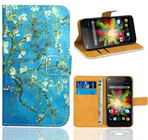 FoneExpert® Wiko Bloom Handy Tasche, Wallet Case Flip Cover Hüllen Etui Ledertasche Lederhülle Premium Schutzhülle für Wiko Bloom