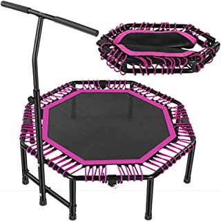 Trampoline Foldable Trampoline with Three-level Adjustable Handles, Aerobic Exercise Equipment for Adults And Children, In...